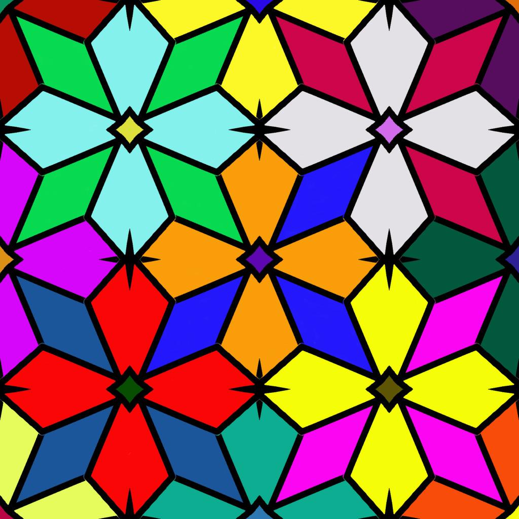 Tiled Star full of color