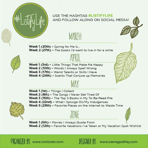 Listify Life - Spring 2016 Challenge